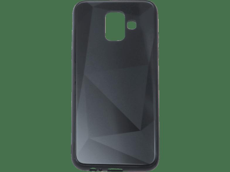 V-DESIGN VGL 102 , Backcover, Samsung, Galaxy A6 (2018), Glas, Schwarz