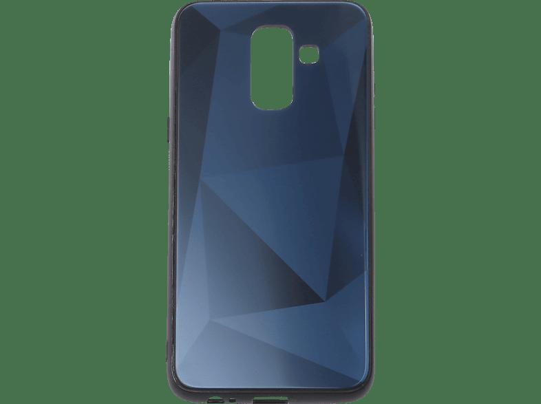 V-DESIGN VGL 105 , Backcover, Samsung, A6 Plus, Glas, Blau