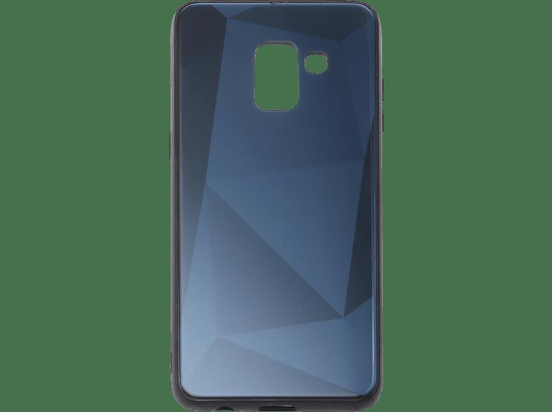 V-DESIGN VGL 109 , Backcover, Samsung, Galaxy A8 (2018), Glas, Blau