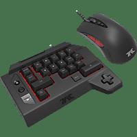 HORI TAC Four V2.0 Tastatur-Maus Set, Schwarz
