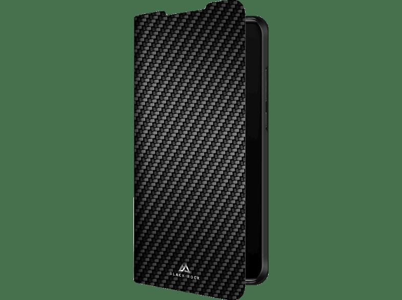 BLACK ROCK Flex Carbon , Bookcover, Huawei, P30 Pro, Polyurethan, Schwarz