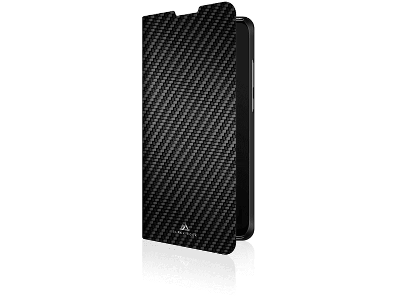 BLACK ROCK Flex Carbon , Bookcover, Huawei, P Smart (2019), Schwarz