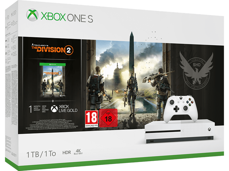 MICROSOFT Xbox One S 1TB Konsole - The Division 2 Bundle