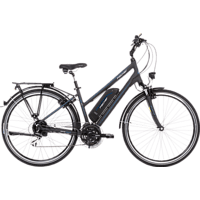 FISCHER - FAHRRAD ETD 1801 Trekkingrad (28 Zoll, 44 cm, City Rahmen, 396 Wh, Dunkel anthrazit matt)