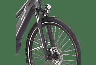 FISCHER - FAHRRAD VIATOR 5.0I Trekkingrad (28 Zoll, 44 cm, Trekking Rahmen, 418 Wh, Schiefergrau matt)