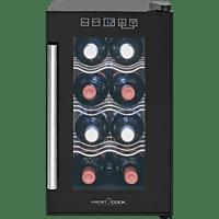 PROFI COOK PC-GK 1163 Kühlschrank (100 kWh/Jahr, A+, 453 mm hoch, Schwarz)