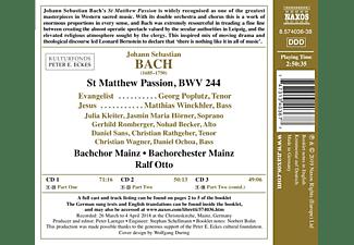Ralf/bachchor Mainz/bachorchester Mainz/+ Otto - St Matthew Passion/Matthäus Passion  - (CD)