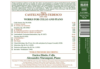 Dindo,Enrico/Marangoni,Alessandro - Werke für Cello und Klavier  - (CD)