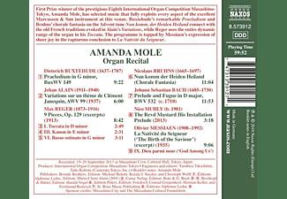 Amanda Mole - Organ Laureate Recital  - (CD)