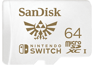 SANDISK microSDXC™, Speicherkarte für Nintendo Switch, 64 GB, Weiß