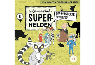 Die Grundschul-Superhelden - 008 - DER VERRÜCKTE SCHULZOO  - (CD)