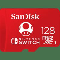 SANDISK microSDXC UHS-I Speicherkarte für Nintendo Switch, 128 GB, Speicherkarte, Rot
