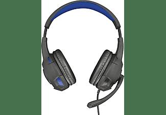 TRUST TRUST Gaming GXT 307 Ravu, Over-ear Gaming Headset für PS4 / PS5 Schwarz/Blau, Over-ear Gaming Headset Schwarz/Blau