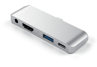 SATECHI Mobile Pro, USB-Hub, Silber