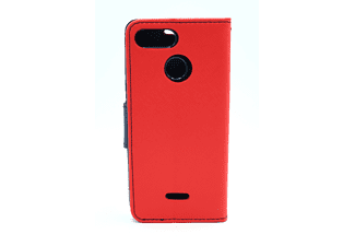 AGM 27815 Fashion, Bookcover, Xiaomi, Redmi 6, Rot/Dunkelblau