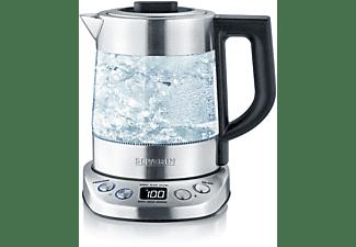 SEVERIN WK 3473 Deluxe Mini  Wasserkocher (2200 Watt , Transparent/Edelstahl gebürstet/Schwarz)