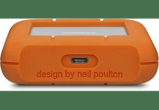 LACIE Rugged USB-C Festplatte, 5 TB HDD, 2,5 Zoll, extern, Silber/Orange