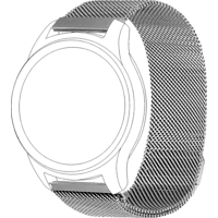 TOPP 40-37-7597, Ersatz-/Wechselarmband, Samsung, Garmin, Gear Sport, Galaxy Watch 42 mm, Samsung Galaxy Active, vivomove, vivoactive3, Silber