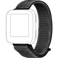 TOPP 40-38-3956, Ersatz-/Wechselarmband, Fitbit, Versa, Schwarz