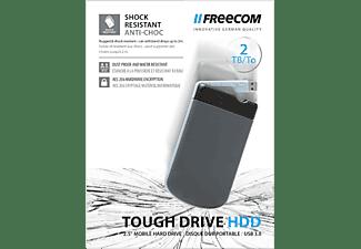 FREECOM Tough drive Festplatte, 2 TB HDD, 2,5 Zoll, extern, Schwarz/Grau