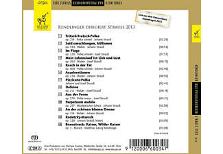 Matthias Kendlinger + K&k Philharmoniker - Kendlinger dirigiert Strauß 2013  - (CD)