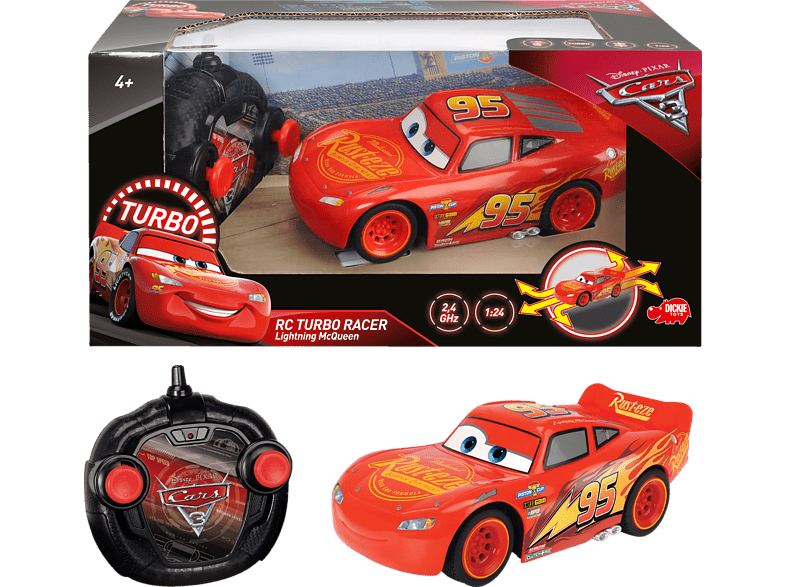 DICKIE TOYS Dickie Toys RC Cars 3 Turbo Racer Lightning McQueen Cars 3 RC, Rot