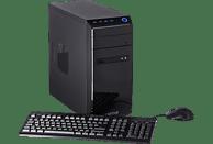 CAPTIVA Gaming R48-640, Gaming PC, A8 Prozessor, 16 GB RAM, 240 GB SSD, 1 TB HDD, Radeon™ RX 550, Schwarz