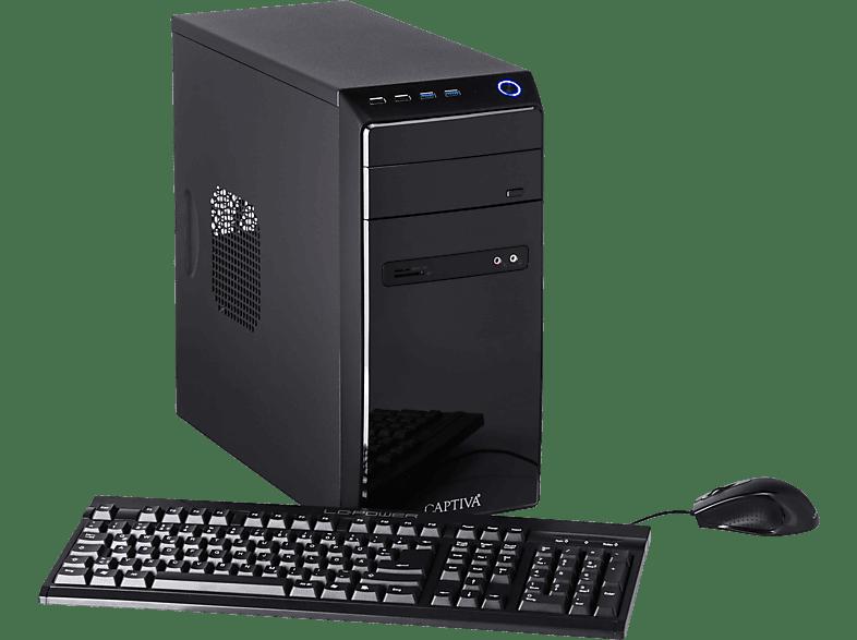 CAPTIVA POWER-Starter R48-636, Desktop PC, A8 Prozessor, 16 GB RAM, 960 GB SSD, Radeon™ R7, Schwarz
