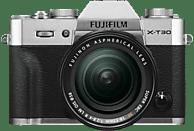 FUJIFILM X-T30 inkl. XF18-55mmF2.8-4 R LM OIS Kit Systemkamera 26.1 Megapixel mit Objektiv 18-55 mm , 7.6 cm Display   Touchscreen, WLAN