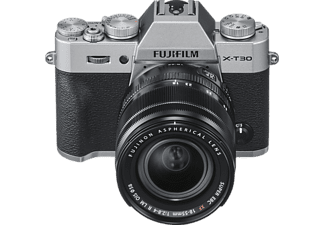 FUJIFILM X-T30 inkl. XF18-55mmF2.8-4 R LM OIS Kit Systemkamera mit Objektiv 18-55 mm f/2.8-4, 7,6 cm Display Touchscreen, WLAN
