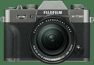FUJIFILM X-T30 inkl. XF18-55mm F2.8-4 R LM OIS Kit Systemkamera mit Objektiv 18-55 mm f/2.8-4, 7,6 cm Display Touchscreen, WLAN