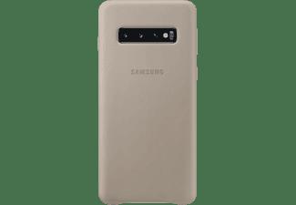 SAMSUNG Leather Cover, Backcover, Samsung, Galaxy S10, Grau