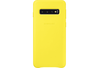 SAMSUNG Leather Cover, Backcover, Samsung, Galaxy S10, Gelb