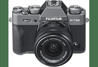 FUJIFILM X-T30 inkl. XC15-45mmF3.5-5.6 OIS PZ Kit Systemkamera mit Objektiv 15-45 mm f/3.5-5.6, 7,6 cm Display Touchscreen, WLAN