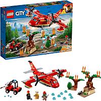 LEGO Löschflugzeug der Feuerwehr Bausatz, Mehrfarbig