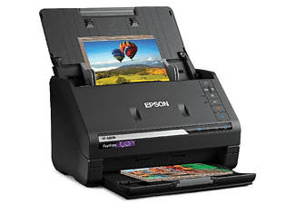 Escáner - Epson FastFoto FF-680W, 600 x 600 ppp, 45 ppm, WiFi, Doble cara, Alimentador automático, Negro