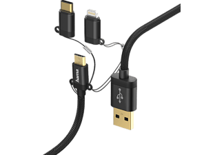 HAMA 183348 Adatkábel 3In1 Micro USB / Type-C / Lightning