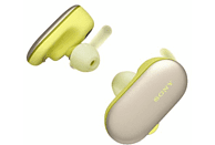Auriculares inalámbricos - Sony WF-SP900, Bluetooth, 4 GB, NFC, Hasta 12 horas, Amarillo
