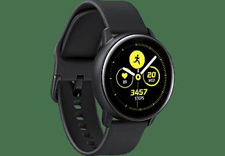SAMSUNG Galaxy Watch Active Smartwatch Aluminium Fluorkautschuk (FKM), S: ca. 60 mm-100 mm, L: ca. 60 mm-125 mm, Schwarz