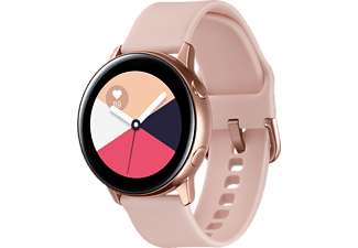 SAMSUNG Galaxy Watch Active Smartwatch Aluminium Fluorkautschuk (FKM), 111.5 mm, Rose Gold