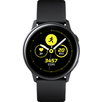 SAMSUNG Galaxy Watch Active Smartwatch Aluminium Fluorkautschuk (FKM), 111.5 mm, Schwarz