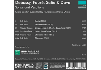 Susan Bickley, Andrew Matthew-Owen, Claire Booth - Songs & Vexations  - (CD)