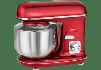 CLATRONIC KM 3712 Küchenmaschine Rot (Rührschüsselkapazität: 5 Liter, 1100 Watt)