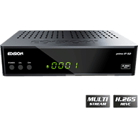 EDISION Primo IP Sat-Receiver (HDTV, PVR-Funktion, DVB-S, DVB-S2, Schwarz)