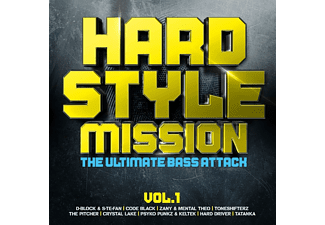 VARIOUS - Hardstyle Mission Vol.1-Ultimate Bass Attack  - (CD)