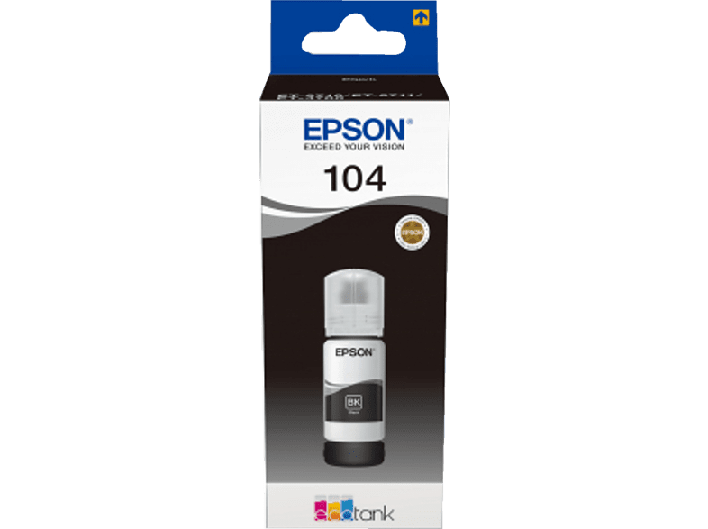 EPSON EcoTank 104  Tintenbehälter Schwarz (C13T00P140)
