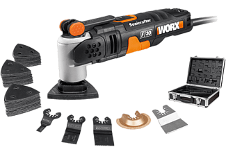 WORX GARDEN WX680.2 SoniCrafter - Set multifonctionnel (Noir/Orange)