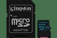 KINGSTON Canvas Go!, Micro-SD Speicherkarte, 64 GB, 90 MB/s