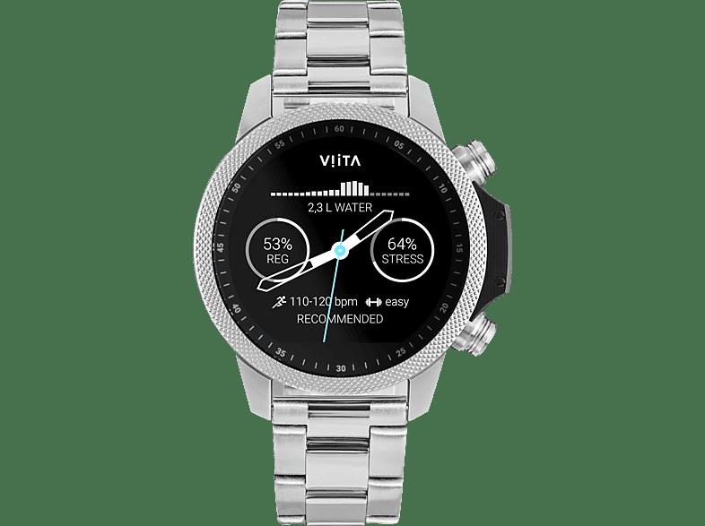 VIITA WATCH  Active HRV Adventure Smartwatch Edelstahl, Edelstahl, -, silber