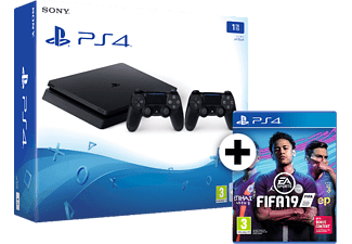 SONY SET PS4 1TB F Chassis Black μαζί με 2ο Dualshock 4 και FIFA 19